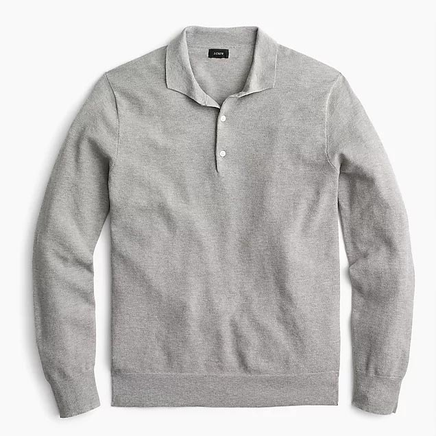 Gray knit polo