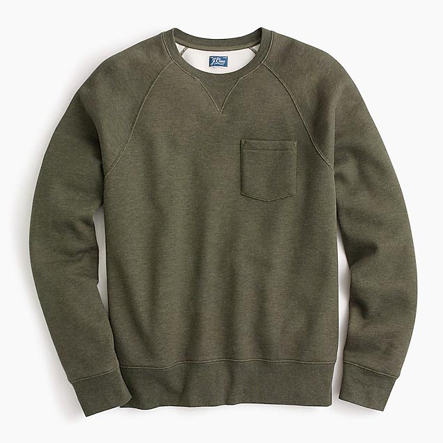 Green sweatshirt with pocket