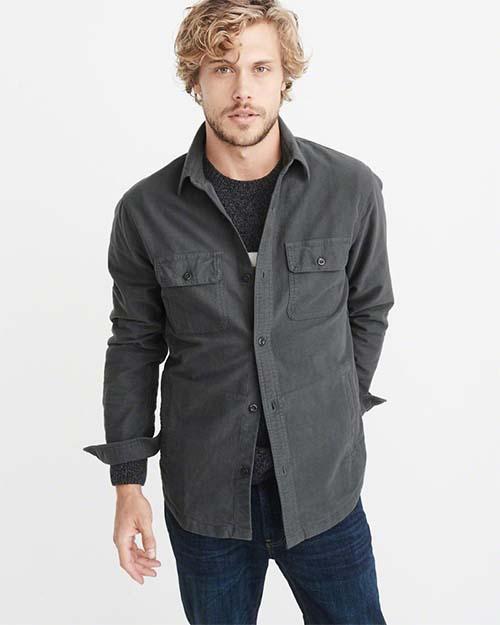 Dark gray flannel shirt