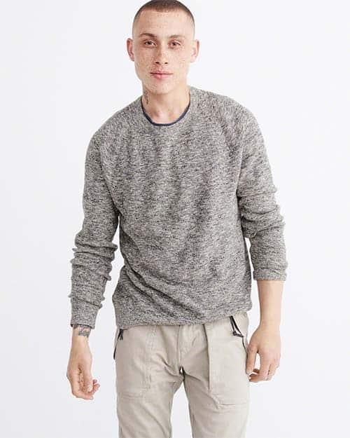marled gray sweater