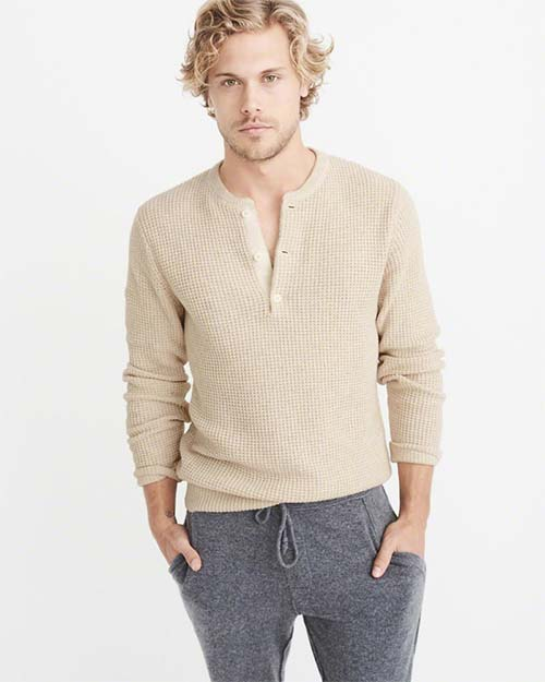 Cream knit hoodie