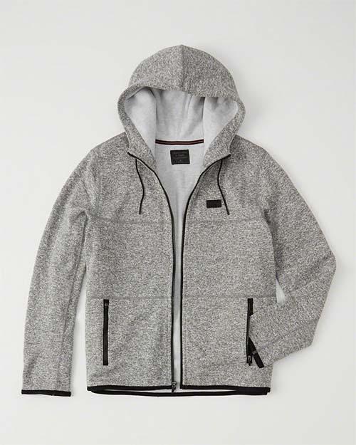 Gray tech hoodie