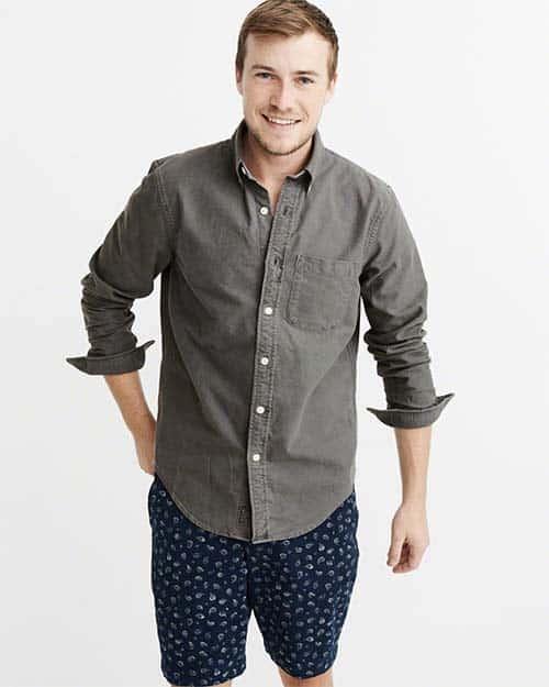 Gray oxford shirt