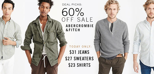 Today Only: 60% Off Abercrombie & Fitch Sale Picks