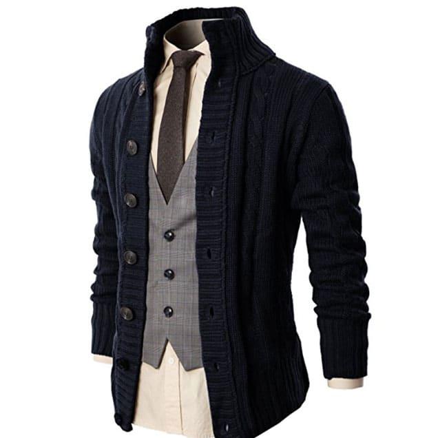 amazon mock neck cardigan