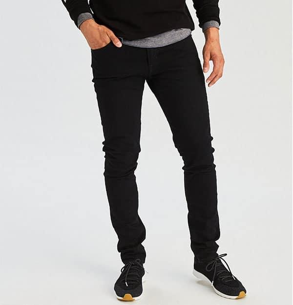 american eagle flex black jeans