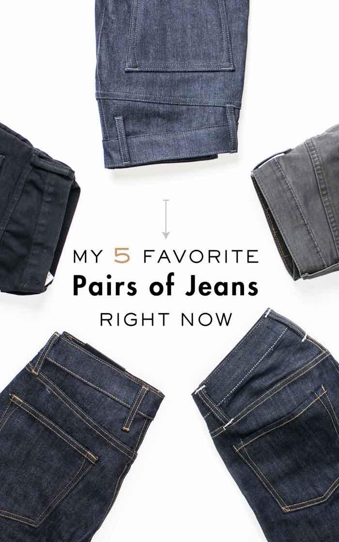 My 5 Favorite Pairs of Jeans Right Now - Best Men's Slim Tapered Jeans