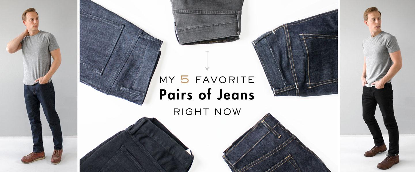 My 5 Favorite Pairs of Jeans Right Now