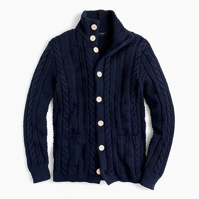 jcrew mock neck cardigan