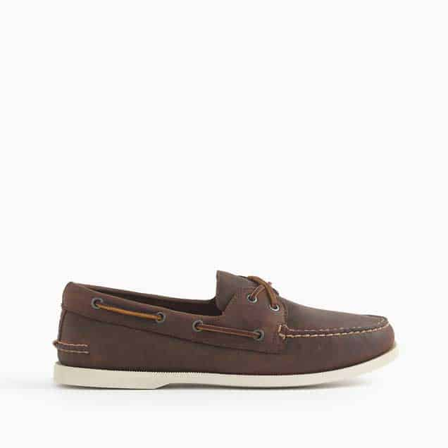 A pair of boat shoes
