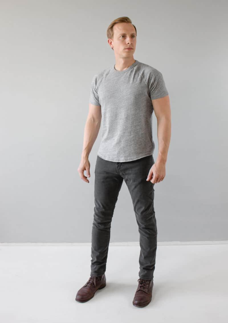 Levi's 512 Slim Taper Jeans front gray