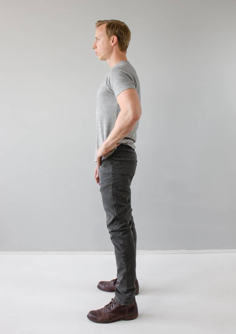 Levi's 512 Slim Taper Jeans side gray