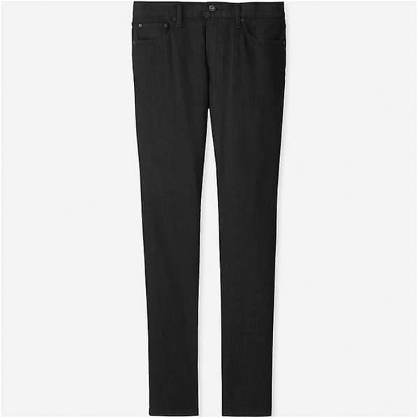 uniqlo black jeans stretch