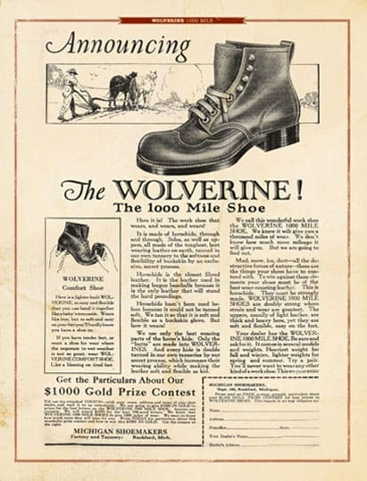 wolverine boot ad
