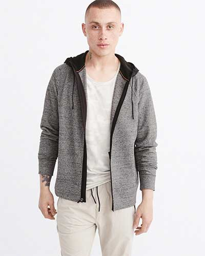 Gray workout hoodie