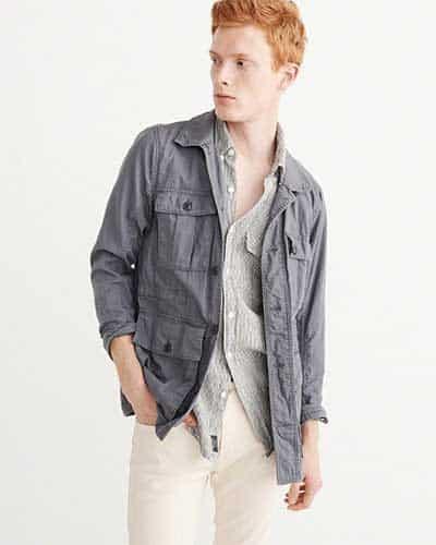 Gray pocket jacket