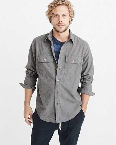 Gray flannel shirt
