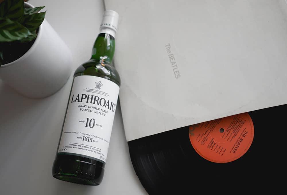 laphroaig whiskey the beatles record good whisky