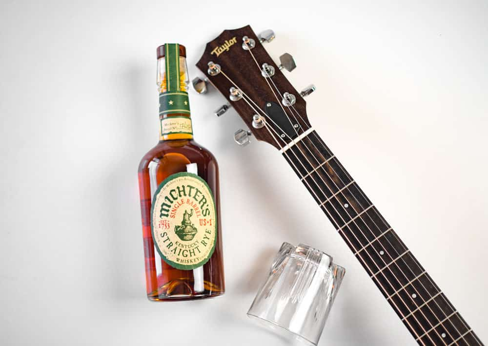 michters whiskey taylor guitar