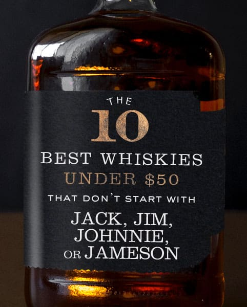 The 10 Best Whiskies Under $50 That Don't Start With Jack, Jim, Jonnie, or Jameson