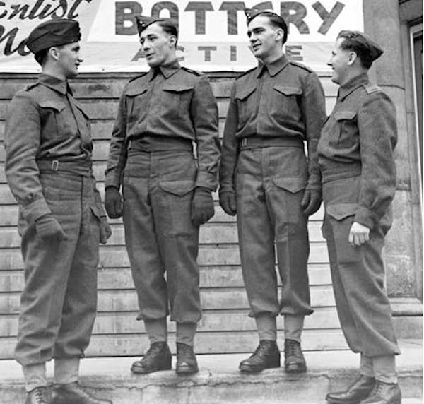 A group of people in uniform wearing cargo pants