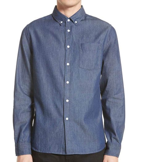 men chambray shirt