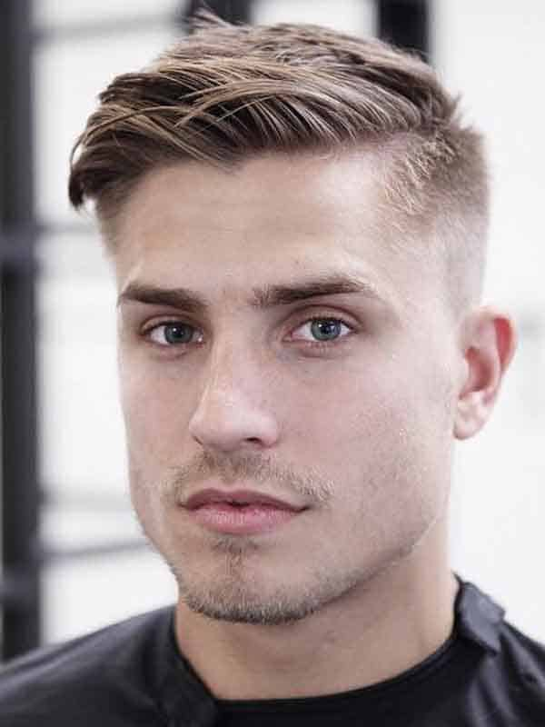 men summer short haircut buzz sides long on top