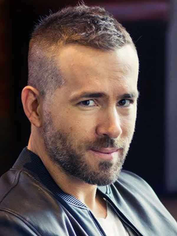 ryan reynolds buzz cut with beard