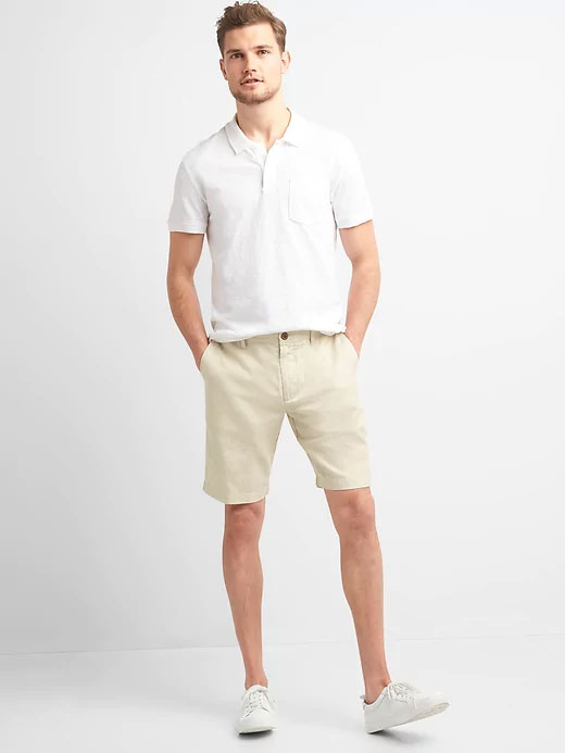 Image of man wearing chino shorts