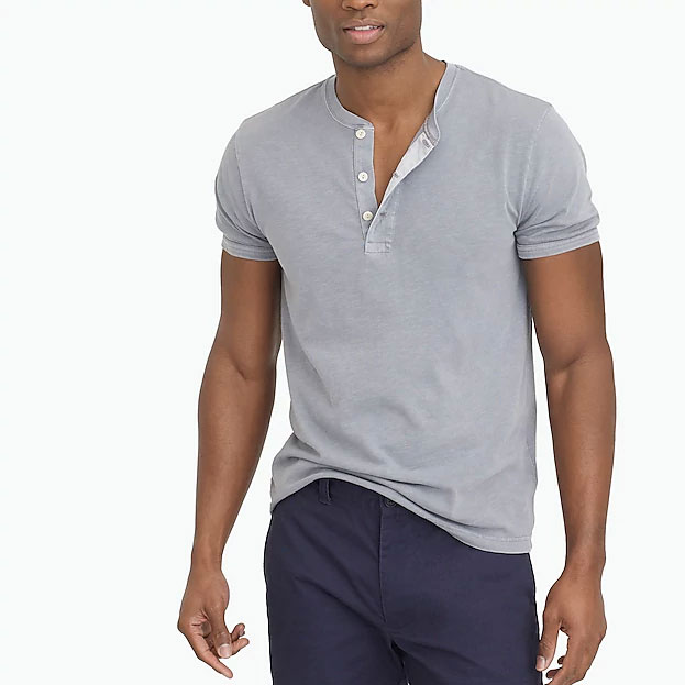 Image of mens Henley shirt