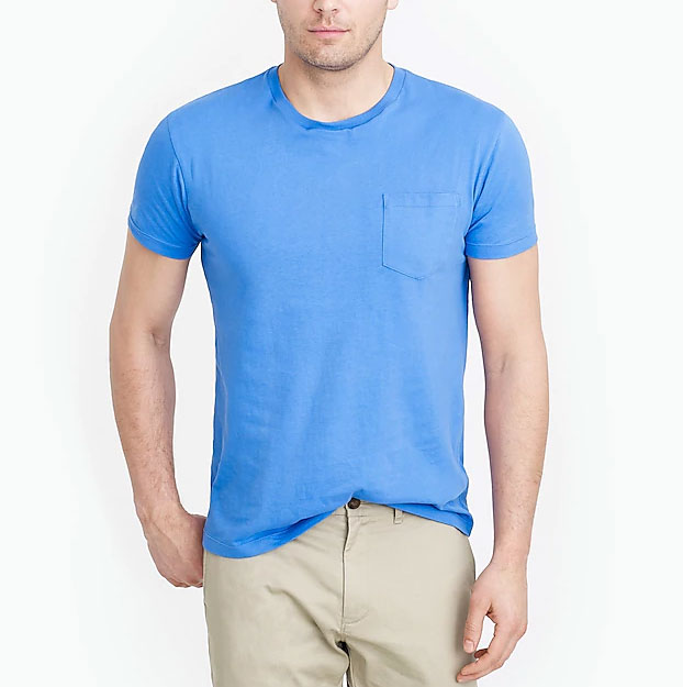 Image of mens pocket t-shirt