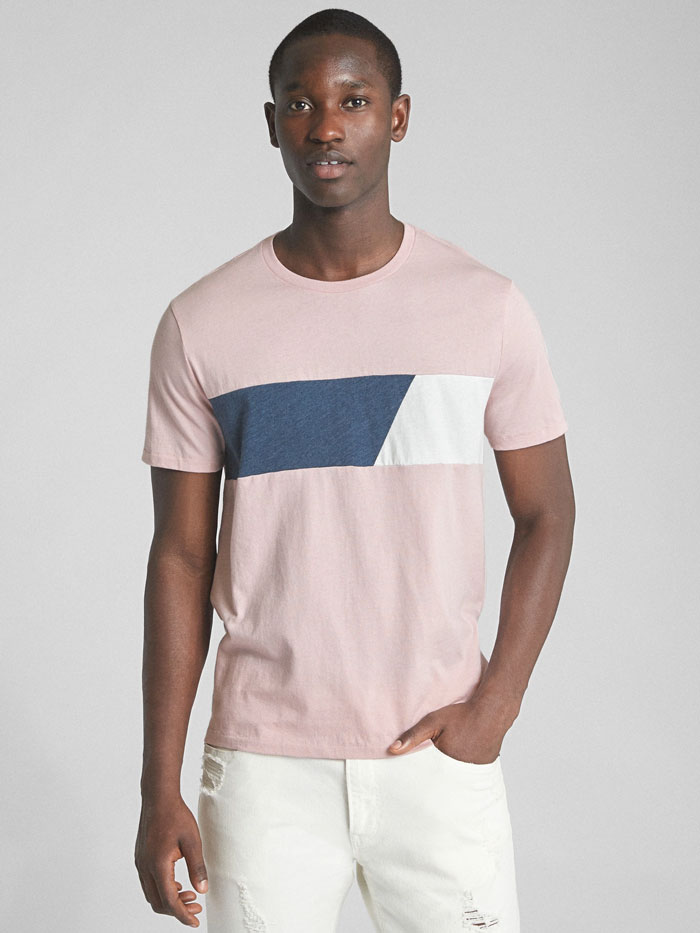 Image of striped crewneck shirt