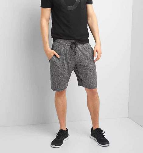 Marled gray work out shorts