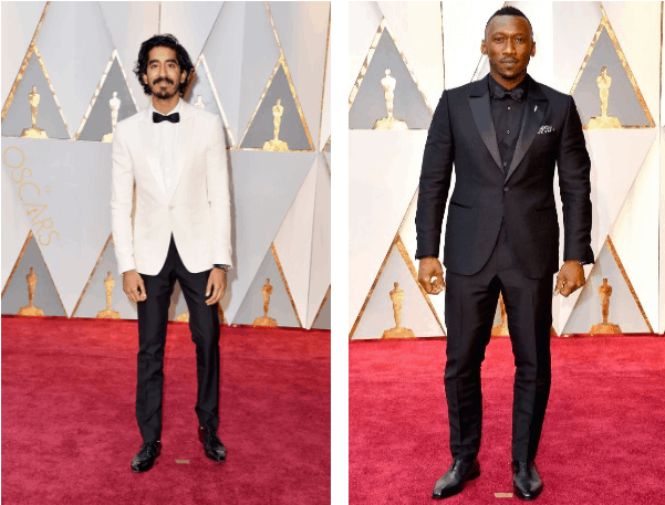 Image of Dev Patel and Mahershala Ali wearing tuxedo