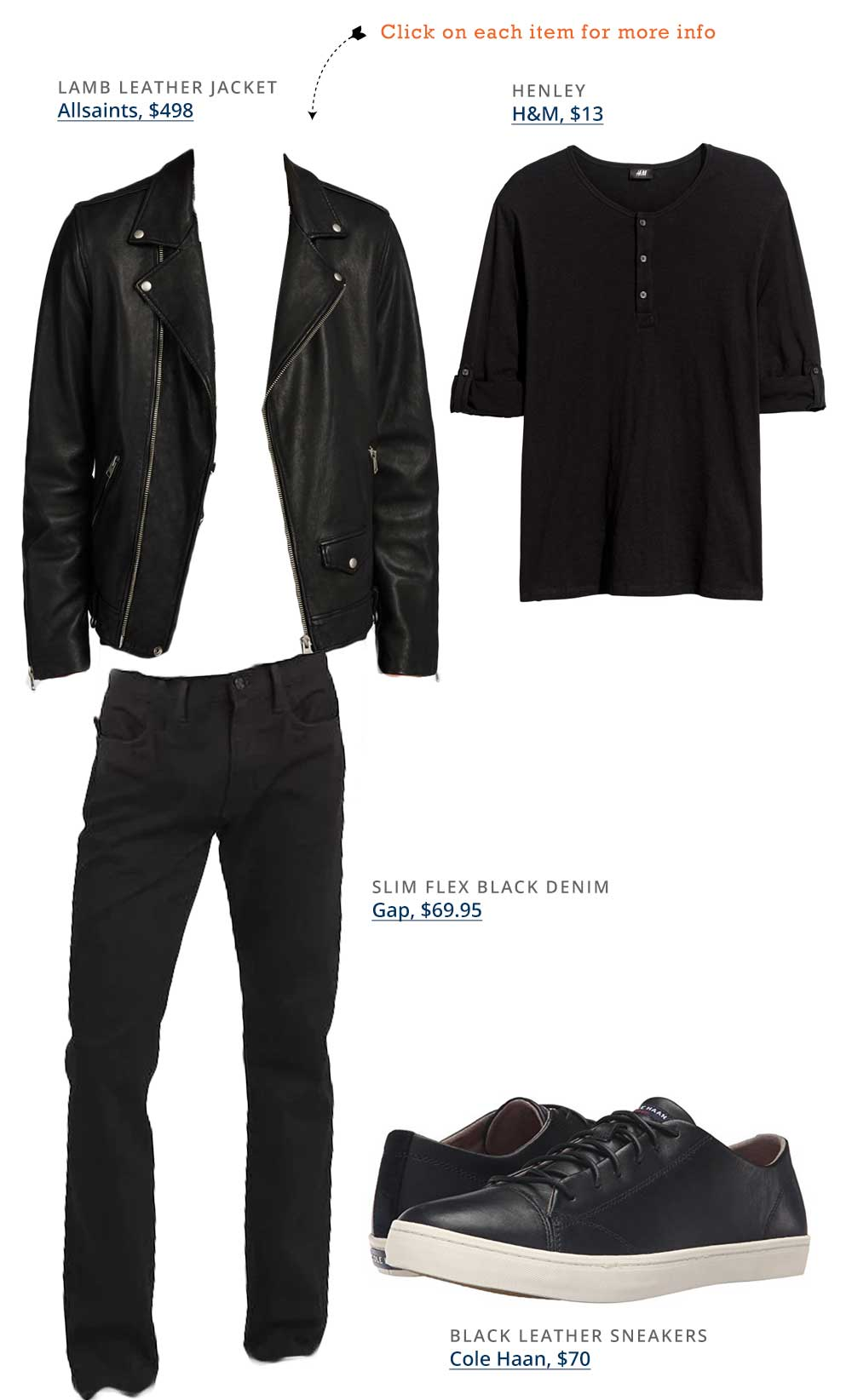 Primer Reader Getup - men fashion allsaints black leather jacket black leather cole haan shoes hm henley