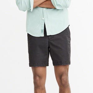 Black shorts above the knee