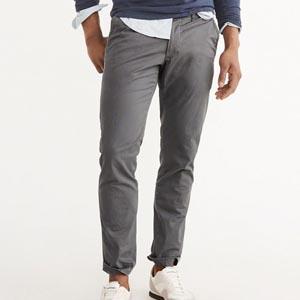 Gray slim abercrombie pants