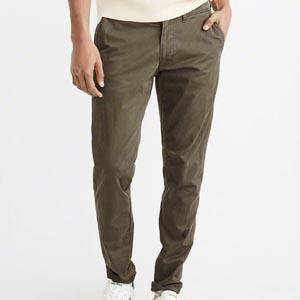 Olive slim pants