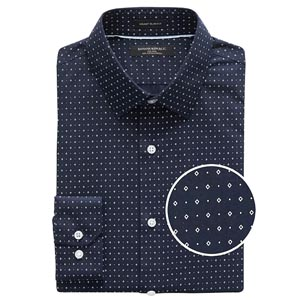 Navy patterend shirt