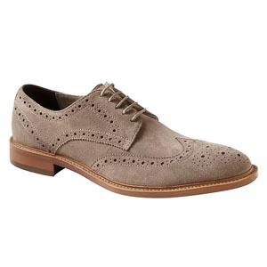 Suede wingtip shoes