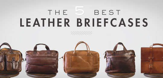 Multiple briefcases sitting on stools with article title
