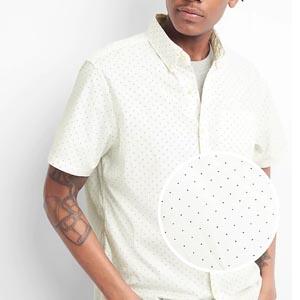 Dotted short sleeve shirt
