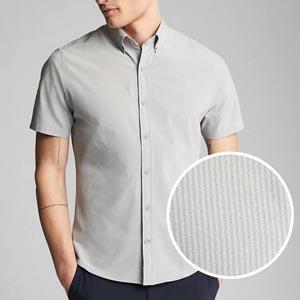 Seersucker gray shirt