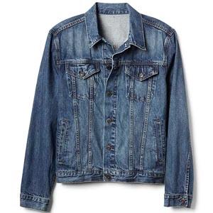 Medium blue trucker jacket
