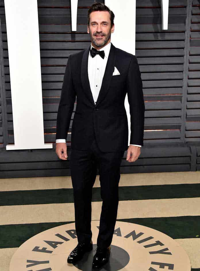 jon hamm wearing a tuxedo