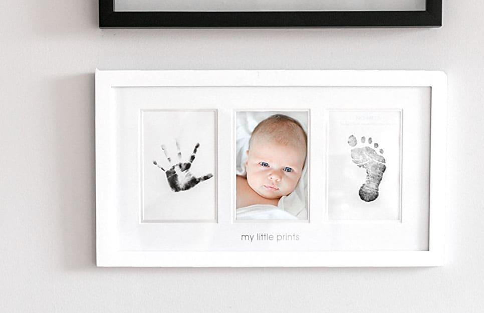 Footprint and baby art print