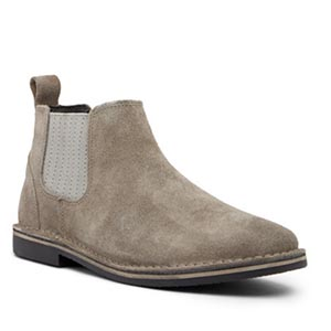 A pair of suede shoes
