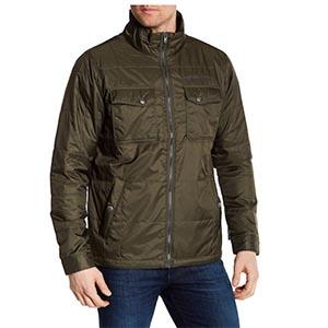 Green nylon jacket