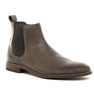 Gray chelsea boots