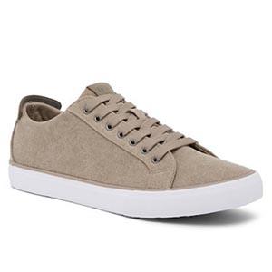 Tan leather sneakers
